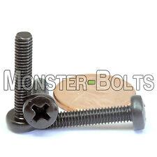 M4 x 20mm - Qty 10 - Phillips Pan Head Machine Screws - DIN 7985 A - Black Steel