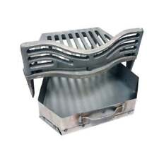 "Joyce Curved Fire Grate Coal Guard and Ashpan for 16"" Fireplace Opening"