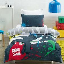 Marvel Comics Spiderman & Captain America Double Full Bed Quilt Cover Set