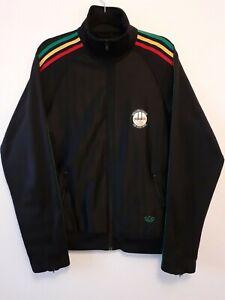 Rare Adidas Rasta Collection Jacket L Retro Vintage Sport Bob Marley First Logo