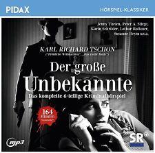 Der große Unbekannte * CD 6-teiliges Kriminalhörspiel Karl Richard Tschon Pidax