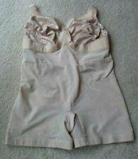 New listing Vtg Plus Size 50D Unisex Shaper Girdle Bodysuit Lace Bra Glamorise Usa Beige