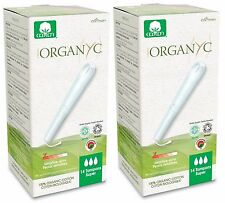 ORGANYC ORGANIC COTTON TAMPONS SUPER 16 TAMPONS x2 - 100% COTTON NO SCENT