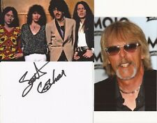 THIN LIZZY* SCOTT GORHAM SIGNED 6x4 WHITECARD+2 UNSIGNED PHOTOS+COA