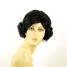 Perruque femme courte bouclée noir VALENTIA 1B