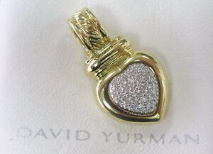 DAVID YURMAN 18K GOLD Diamond HEART ENHANCER .33Ct
