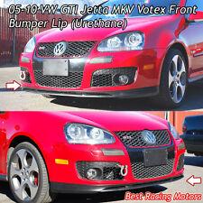 Votex Style Front Bumper Lip (Urethane) Fits 05-10 VW GTI Jetta MK5