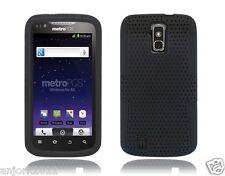 Sprint Boost ZTE Force N9100 Mesh Hybrid Case Skin Cover Black
