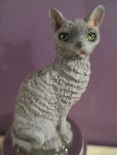 Cat Cornish Rex Blue Wine Stopper