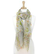 Vintage Floral Sheer Scarf Color Flower Shawl Wrap Fashion NEW
