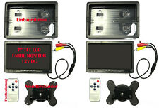 "2x 17,8cm/7"" KFZ AUTO TFT LCD Video Monitor für Kameras, DVD, Navi, 49,985€/Stk."