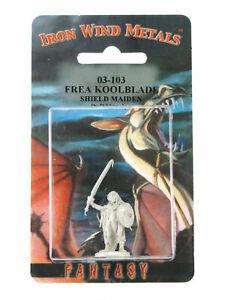 Frea Koolblade Shield Maiden #03-103 Classic Ral Partha Fantasy RPG Metal Figure