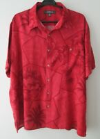 "Vintage Auth Croft & Barrow Red Tropical Hawaiian Shirt  50""-127cm XL (623H)"