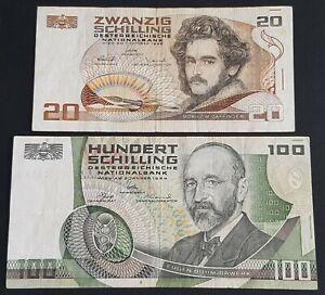 Austria • 20 Shilling 1967 and 100 Shilling 1984