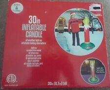 Trim a Home 30 inch light up inflatable candle Christmas indoor outdoor New