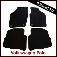 VW Volkswagen Polo Mk4 2002-2009 Round Eyelets Tailored Carpet Car Mats BLACK