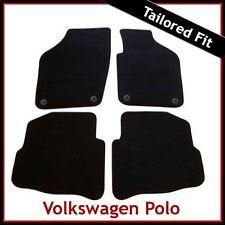 VW VOLKSWAGEN POLO mk4 2002-2009 ROUND occhielli su misura moquette Tappetini Auto Nero