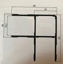 Alu Spriegel Eck Profil 50cm 0,5m (€ 11,90 /m) Bordwand Spriegelbrett