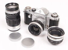 Asahi Pentax Original AP w/35mm/55mm/135mm Lenses - Nice Set But Some TLC