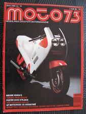 Moto 73 #18 29 augustus 1986 (Nederlands) poster Cagiva 125cc Dave Strijbos