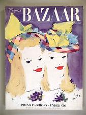 Harper's Bazaar - March 15, 1941 -- nice condition -- Marcel Vertes cover