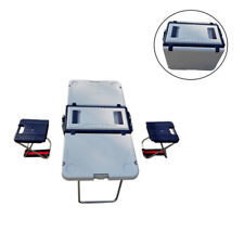 Multi Function Foldable Table Chairs Cooler and 2 Chairs Picnic Camping Outdoor