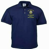 USS PARSONS  DDG-33 NAVY ANCHOR  EMBROIDERED LIGHT WEIGHT POLO SHIRT