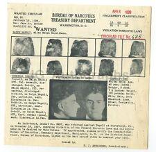 Wanted Notice - Ralph Napoli/Narcotics - Pittsburgh, Pennsylvania - 1936