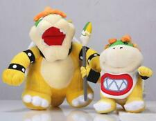 "2Pcs/Lot Super Mario Bros 10"" King Bowser & 7""  Koopa Jr. Bowser Plush  HEA"