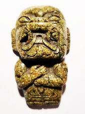 VINTAGE MEXICAN PRE COLUMBIAN AZTEC GOD TLALOC GRANULATED TURQUOISE SCULPTURE EX