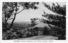 Otter Lake Quebec Canada Greetings From scenic view of area real photo pc Z23351