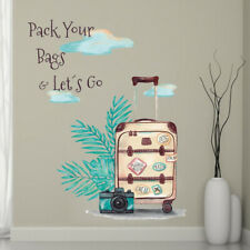 Pack Your Bag Let's Go Decal Graduation Meaningful Vinyl Wall Sticker Party