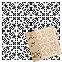 MORO Pochoir en PLASTIQUE réutilisable pour tuiles // Géométrique Marocain