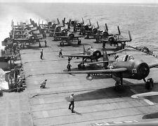 """Grumman TBM-3E Avenger & F8F-1 Bearcats USS Monterey 8""""x 10"""" Korean War Photo 25"""