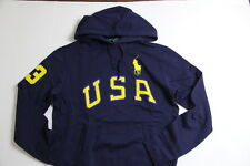 Ralph Lauren Polo USA Men Big Pony Navy Blue  Jacket Hoodie Sweater S Small