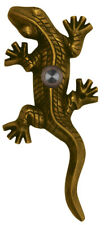 Antique Brass Doorbell Large Gecko Designer Lizard Lighted Push Button Ringer
