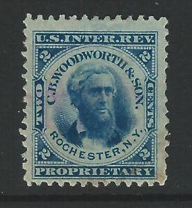 Bigjake: RT21d, 2 cent C. B. Woodworth & Son  - Match & Medicine