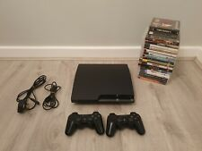 Sony Playstation 3 PS3 120GB Slim Bundle With 2 controllers & 20 Games