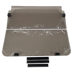 WINDSHIELD FOR CLUB CAR DS post 2000.  2-Piece Fold Down. Strong 4mm acrylic