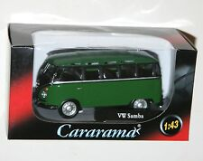 Cararama - VW Volkswagen SAMBA Bus (Green/Black) Model Scale 1:43