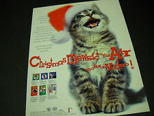 JINGLE CATS Christmas Mewsic is in the Air 1996 PROMO DISPLAY AD mint condition