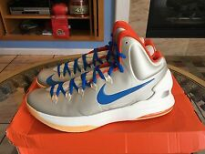 NIKE ZOOM KD V BIRCH-PHOTO BLUE-SAIL ORANGE Beach Size 13 544988-200