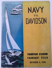 1936 Navy vs Davidson College Football Program