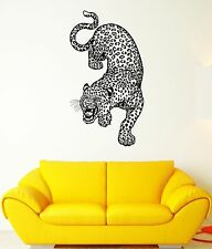Wall Decal Leopard Cheetah Predator Animal Grin Wildcat Vinyl Stickers (ed120)