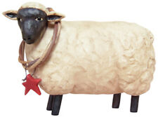 Country Farmhouse Resin Sheep with Wreath
