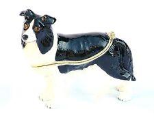 Border collie Sheepdog collectable enamel pill box  farming  Present Gift