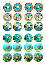 24 OCTONAUTS  BIRTHDAY  CAKE TOPPERS ICING EDIBLE FAIRY/CUP