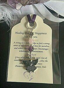 Angel of peace & Happiness Keyring charm. Healing Crystal Gemstone Gift. REIKI.
