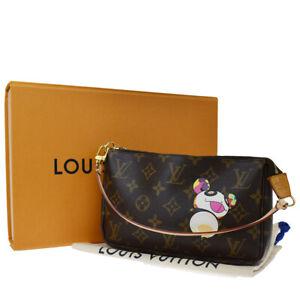 Auth LOUIS VUITTON Pochette Accessoires Hand Bag Monogram Panda M51981 680JC295