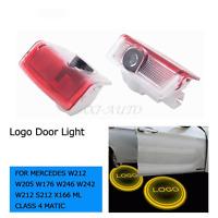 2X LED Door Light Logo Projector For Mercedes W246 W242 E B C ML Class AMG E350
